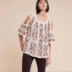 Anthropologie floral blouse.